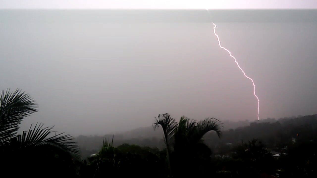 Terry Schembri captured this photo of the lightning at Buderim.