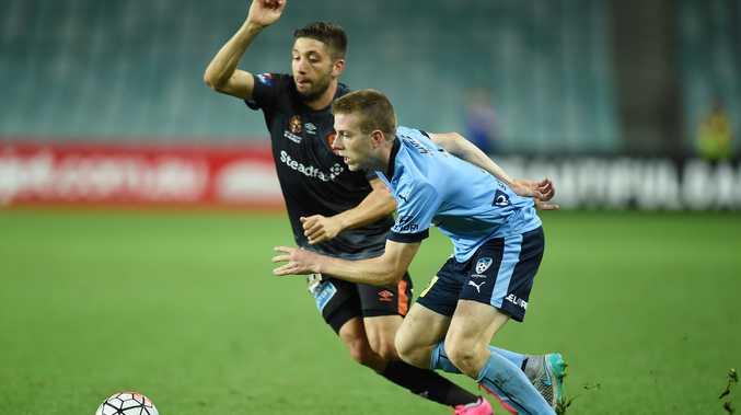 Sydney FC and Brisbane Roar do battle last November.