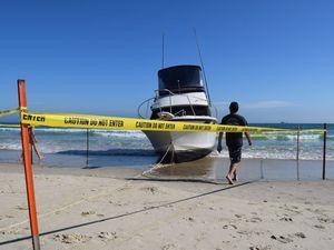 Cruiser washes up on Byron beach