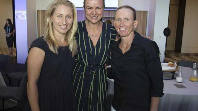 Daria Gavrilova, and Nicole Pratt with Felicity Harley, editor at Women's Health magazine, at the Celebrating Inspirational Women brunch.
