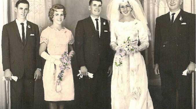 Geoffrey and Ruth Mau (nee Jensen) on their wedding day 50 years ago.