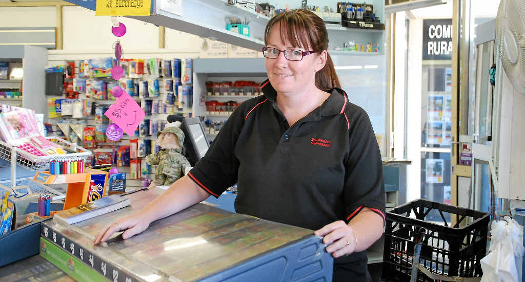 OUR HERALD: Blackwater Newsagency's Jodie Lane is confident the community will still enjoy reading their Blackwater news on a Wednesday, inside the CQ News.