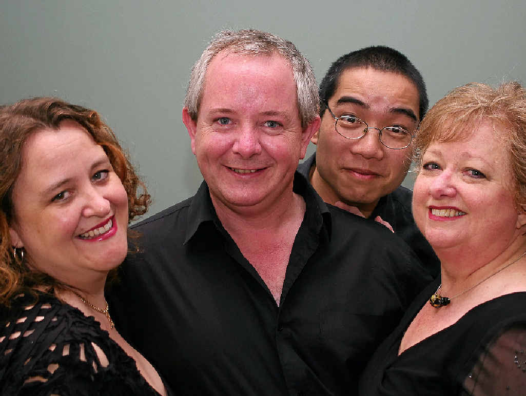 NEW SHOW AWAITS: A Chap (Bernard Wheaton), the Divas (D'Arne Sleaman and Elizabeth Hood) and a Piano (Mark Leung) are back on the Coast in March.