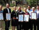 Oakey District Awardees with 2016 Toowoomba Regional  Citizen recipient Mr Ron Scheuerle and Cr Geoff McDonald. Photo: Allyson Gardner