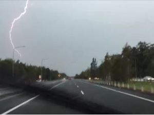 Bolts of lightning hit Sunshine Coast