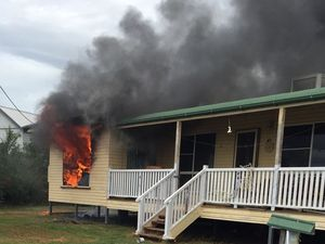 Family lucky to be out of blazing home