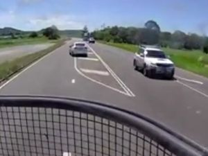 Near miss caught on dashcam near Mackay