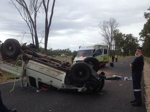 Young man suffers serious spinal injuries in ute crash