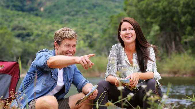 Chris Brown and Julia Morris host the TV series I'm A Celebrity... Get Me Out of Here! from South Africa.