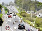 Mock-up of Darra to Rocklea stretch of Ipswich motorway which has been described as a goat track.