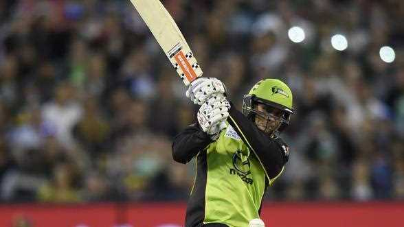 Thunder player Usman Khawaja during the Melbourne Stars versus Sydney Thunder Big Bash League Final at the MCG in Melbourne, Sunday, Jan. 24, 2016.