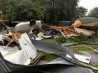 Debris and destruction at Palmers Island.