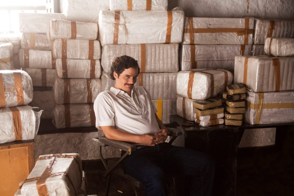 Wagner Moura as Pablo Escobar in Narcos. Photo Contributed