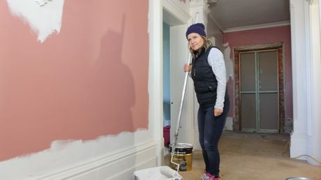 Shaynna Blaze pictured renovating a heritage home in Ballarat.