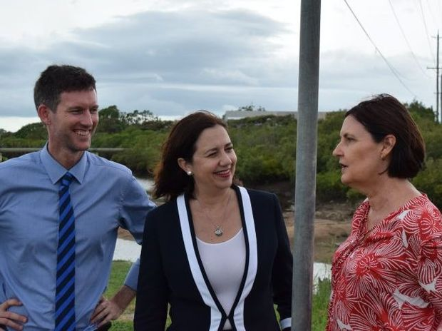 State minister for roads Mark Bailey, Premier Annastacia Palaszczuk and Member for Mackay Julieanne Gilbert yesterday announced the Vines Creek Bridge upgrade would be brought forward more than a year.