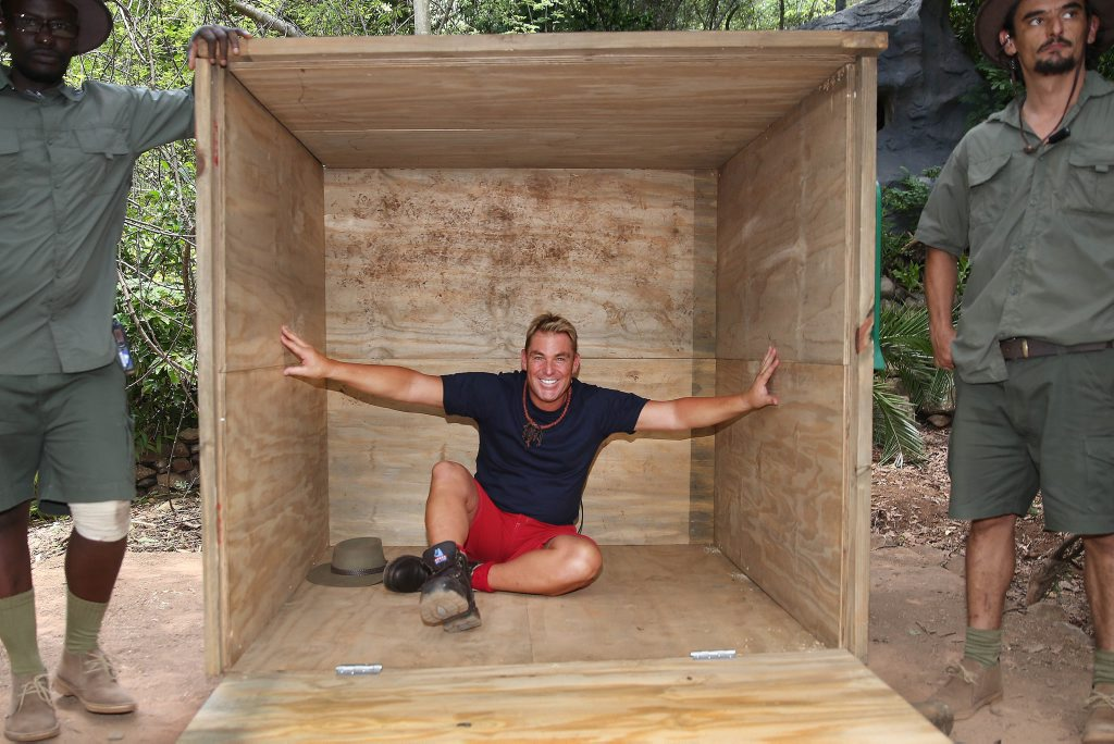 Shane Warne prepares to enter camp on the TV series I'm A Celebrity... Get Me Out of Here!