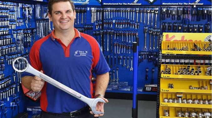 BIG RANGE: Tools & Industrial Supplies manager Brett Gray inside his West Ipswich store.