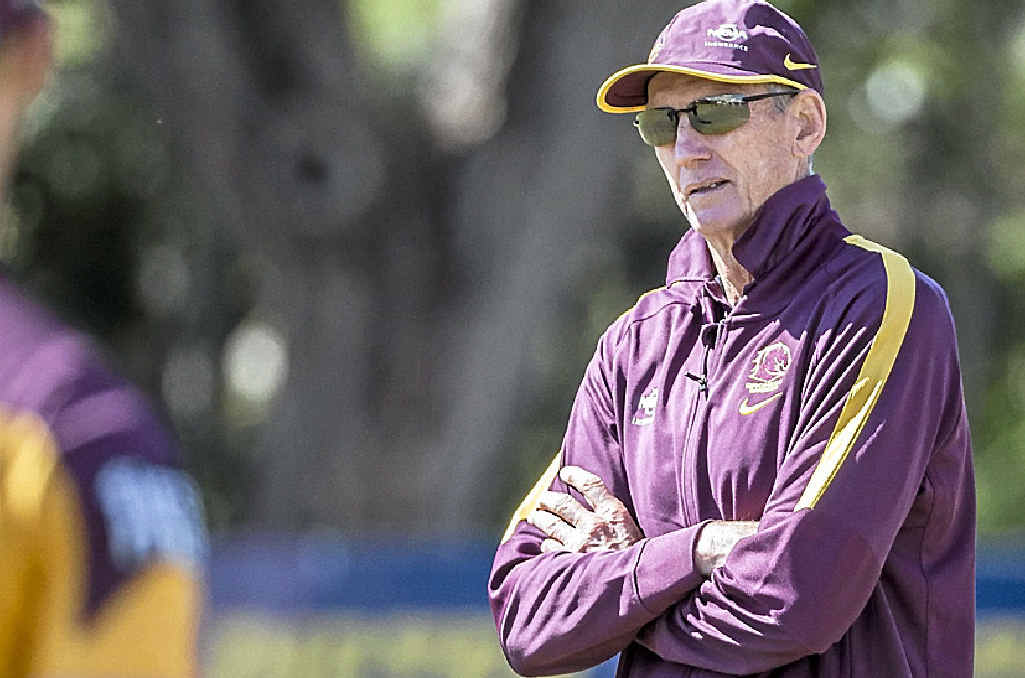 NO COUNTRY FOR OLD MEN: Veteran Broncos mentor Wayne Bennett should be allowed to help coach whatever country he wants, but one of his former players, Wally Lewis (inset), doesn't agree.
