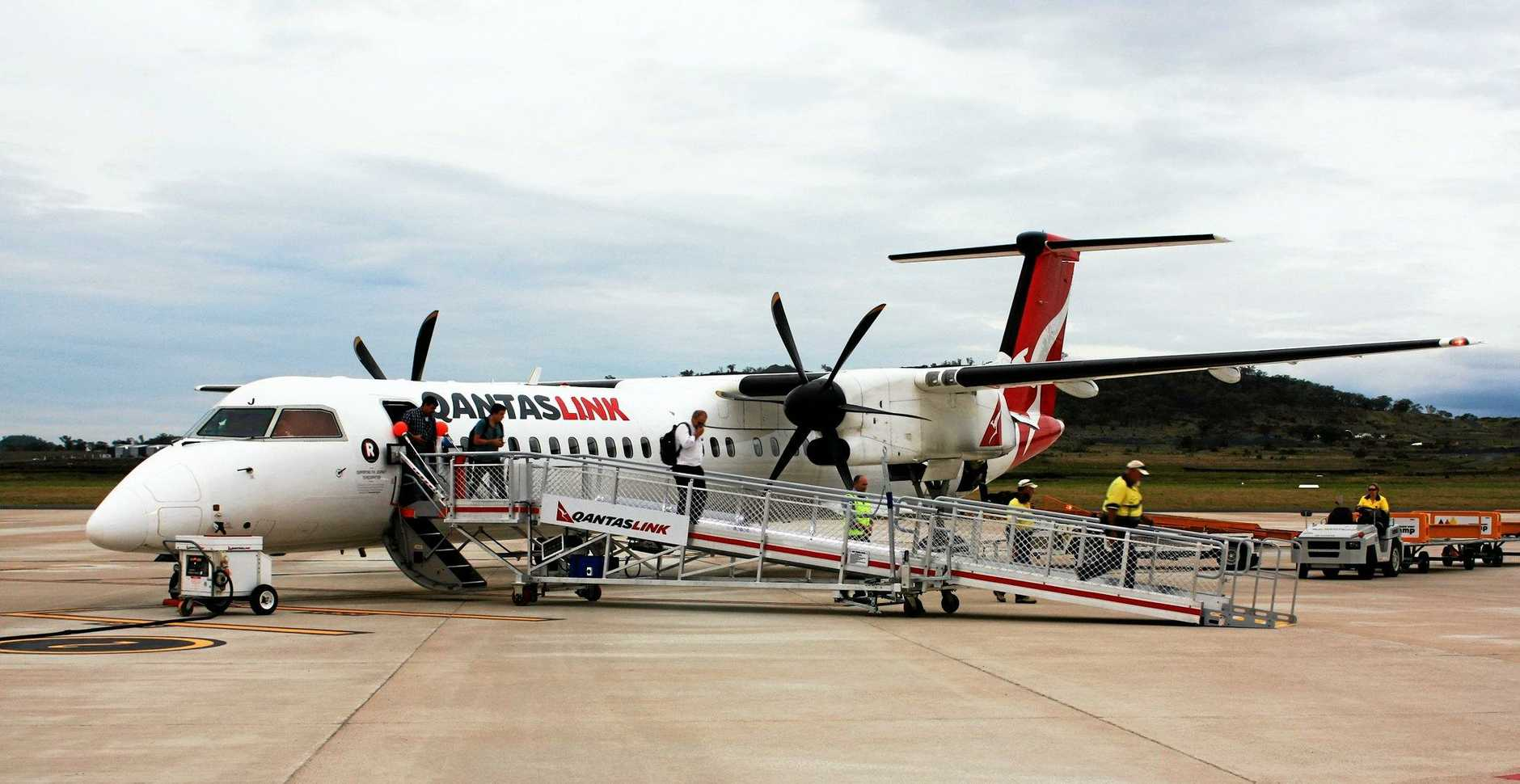 NEW RAMP: QantasLink customers now have safer and more convenient aircraft access thanks to a QRamp at Brisbane West Wellcamp Airport.