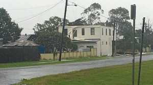 Houses were damaged in Coraki during Friday's storm