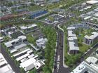 A image taken from council's new 3D fly-through of theToowoomba Railway Parklands.