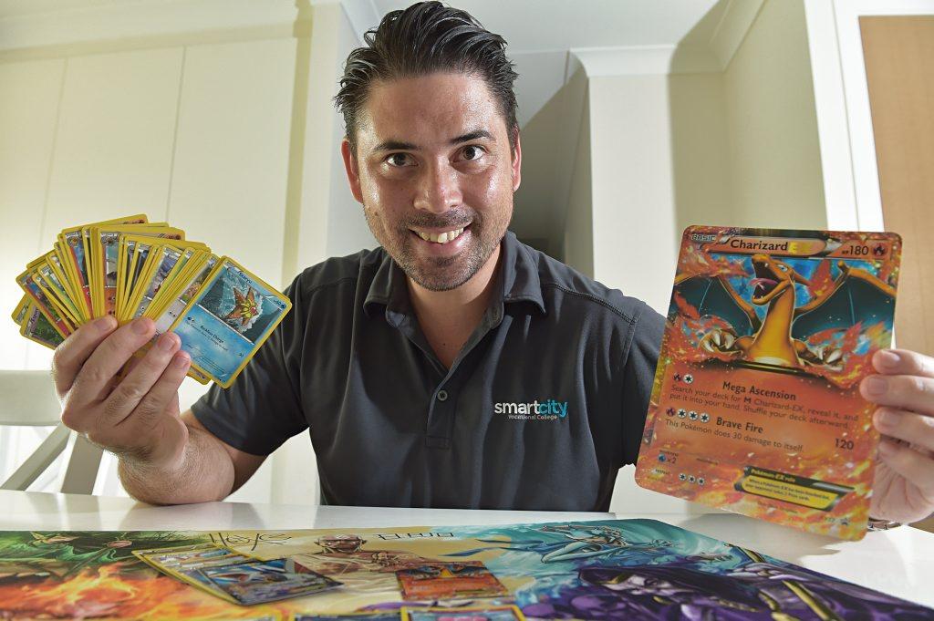 OLD FAVOURITES: Jason Adams with his Pokemon.
