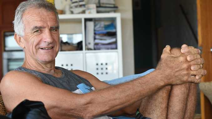 Waterpolo player Mick Gooley, of Lennox Head, had a lucky escape after suffering a heart attack during a waterpolo game. Photo Marc Stapelberg / The Northern Star
