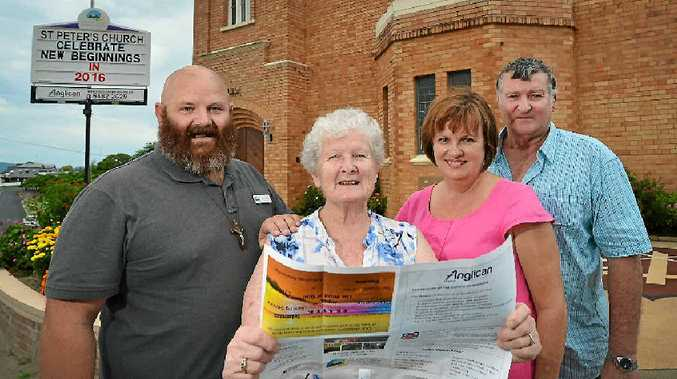 PLANNERS: Gympie Anglican Church and Region Mission Action Plan (MAP) 2015 – 2020 instigators include (from left) Reverend Andrew Cooper, peoples' warden May Nash, music minister Leanne Goodall and church warden Neil Goodall.