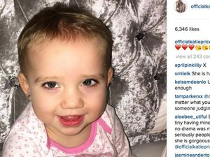 Katie Price gets 17-month-old's ears pierced