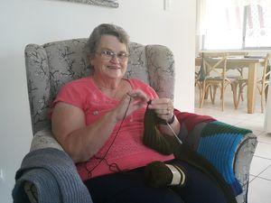 Winter knitting starts in summer for Dorothy