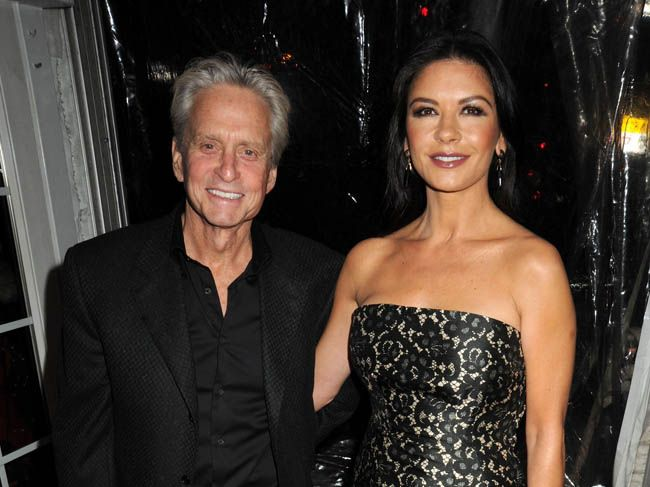 Catherine Zeta-Jones with husband Michael Douglas.