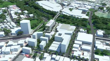 The Ipswich City Council have released an artist impression of the CBD redevelopment. Photo: Contributed