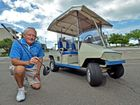 Robert Smith is selling a 52 year old Tee Bird golf buggy, only driven once a week. Used to be owned by Mr and Mrs Orde (mrs Orde was daughter of Reginald Bulcock, pioneer of Caloundra). Robert bought it from them when they got too old for golf. Photo Patrick Woods / Sunshine Coast Daily