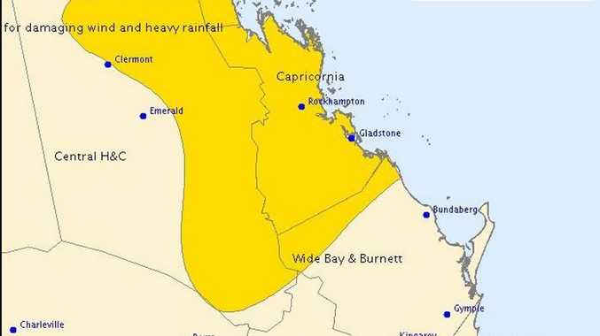 Gladstone region is once again issued with a storm warning.