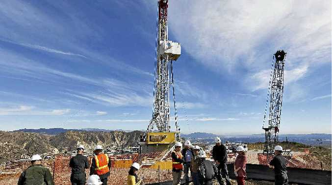 SOMETHING STINKS: Los Angeles Mayor Eric Garcetti joins Southern California Gas Company officials as attempts continue to stem the leak at a gas well in the company's Aliso Canyon facility.