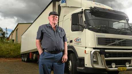 Bill Ward is grateful after bystanders rushed to the aid of one of his drivers in Queensland. Photo Marc Stapelberg / The Northern Star