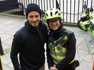 David Beckham buys drink for paramedic and her patient
