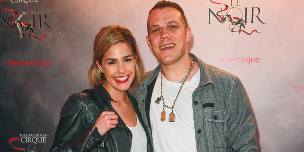 Kim Vinnell and her boyfriend Richie Hardcore, who has spoken out after her live TV cross during the Laneway music festival was interrupted. Photo: Norrie Montgomery