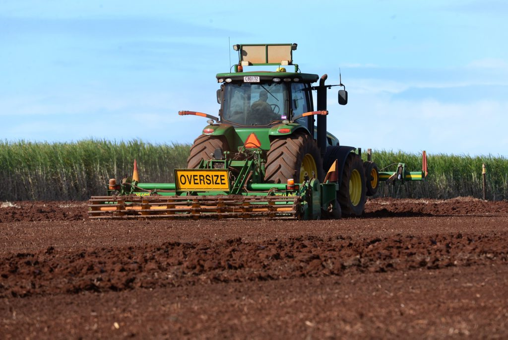 RURAL VIEWS: A tractor working in the Rubyanna fields East Bundaberg. Photo: Mike Knott / NewsMail