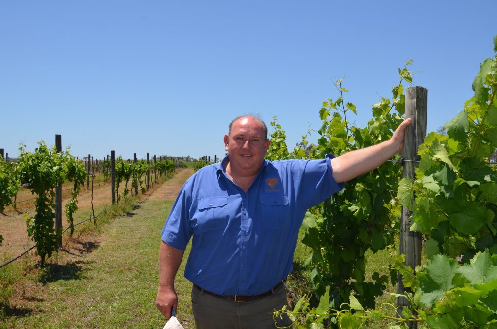 MOFFATDALE RIDGE WINERY: Jason Kinsella looking forward to this year's wine festival.