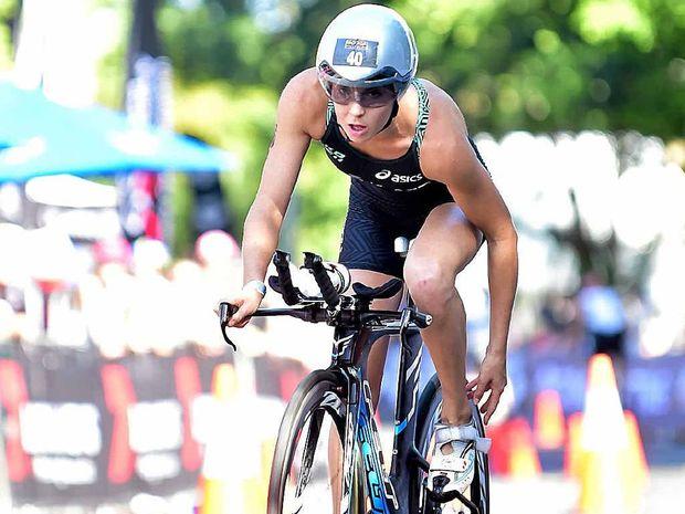 PROUD: Noosa Triathlon winner Ashleigh Gentle.