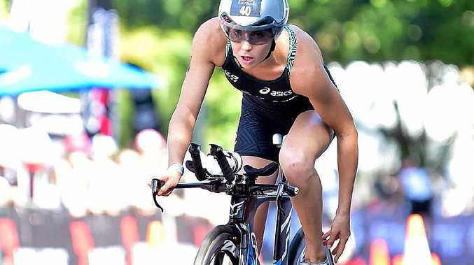 PROUD: Noosa Triathlon winner Ashleigh Gentle.
