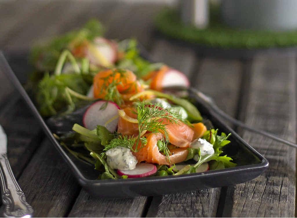 Dan and Steph's salmon salad.