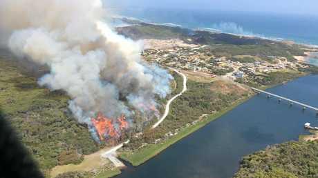 Back burning at Arthur River on Tasmania's north west coast last week. Photo: Boyd Townsend