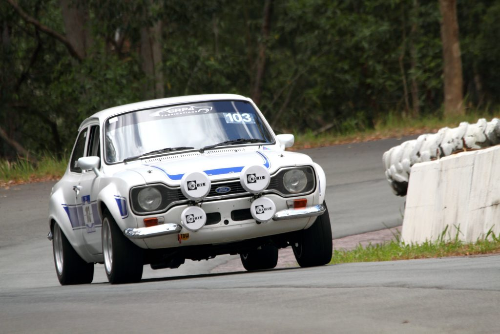 CLASSIC FORD: Richards has a passion and ownership history with the rally favourite Ford Escort Mk 1.