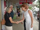 ONE NATION: Pauline Hanson greets residents with newly announced Richmond candidate Neil Smith.
