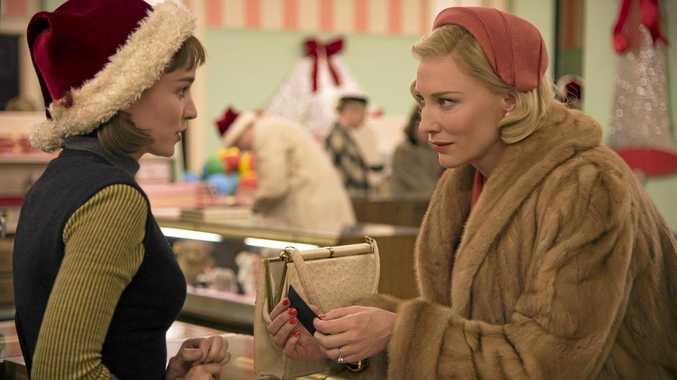 STARS: Rooney Mara and Cate Blanchett in a scene from the movie Carol.