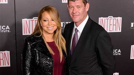 Mariah Carey and fiance James Packer.