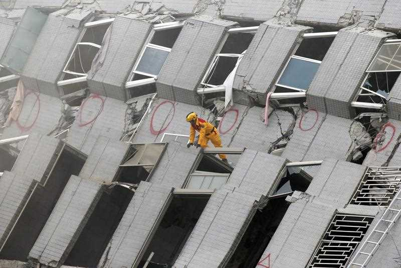 A 17-storey apartment building collapsed in Tainan City's Yungkang district. It was said to be home to about 250 people in 96 households, according to the Central Emergency Operation Center.