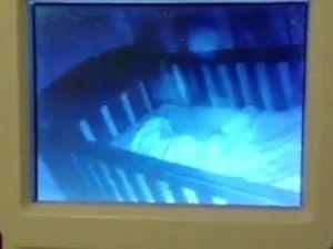 Ghost haunts sleeping baby